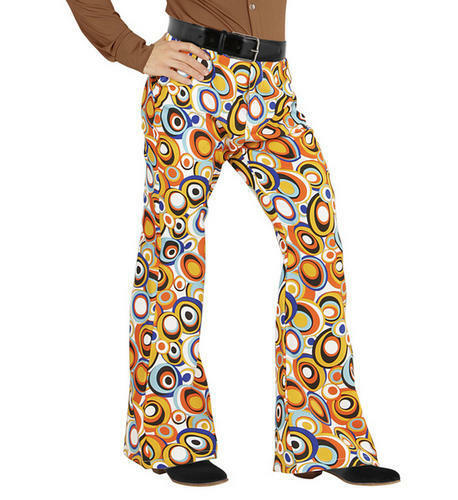 Mens Bubble Trousers 70S Flares Fancy Dress Costume 1970S Disco Outfit S//M