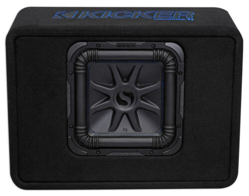 "Kicker 44TL7S102 10/"" 1200w L7 Solo-Baric L7S Loaded Car//Truck Sub Enclosure Box"