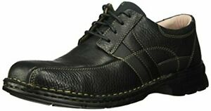 Clarks-Mens-ESPACE-Shoe-black-oily-leather-070-M-US