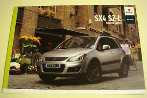 Suzuki  SX4  Suzuki SX4 SZL  Limited Edition  2010 Sales Brochure - <span itemprop=availableAtOrFrom>Buckinghamshire, United Kingdom</span> - Returns accepted Most purchases from business sellers are protected by the Consumer Contract Regulations 2013 which give you the right to cancel the purchase within 14 days after  - Buckinghamshire, United Kingdom