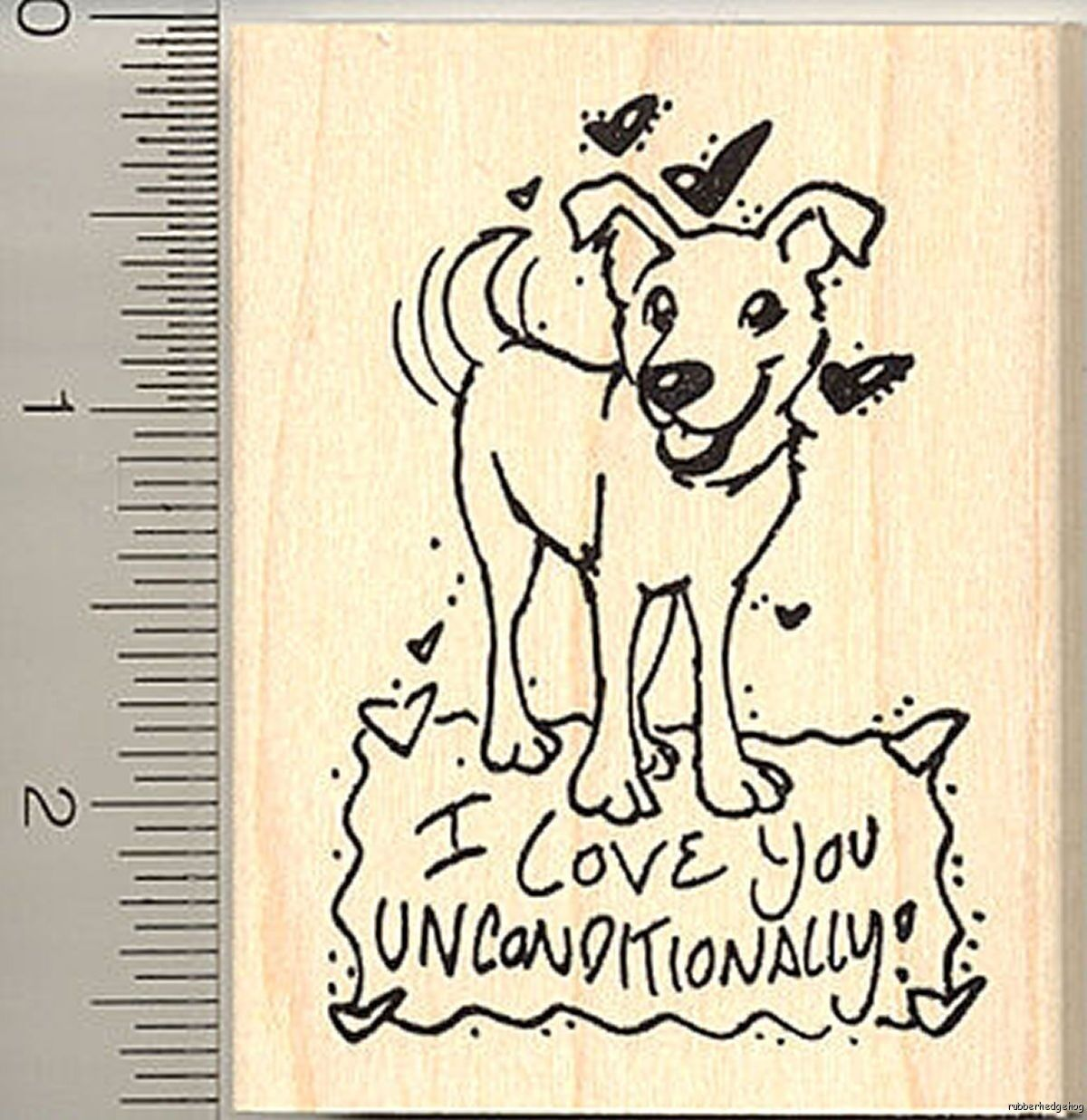 Dog Cocktail Rubber Stamp Party Beverage with Bone A29924 WM