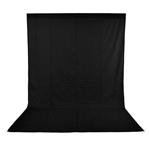 Phot-r 1,6 X 2,1 m Fotografía Foto Studio no tejida de telón de fondo negro