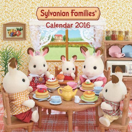 LIMITED STOCK RARE! BNIP SYLVANIAN FAMILIES 9032 Wall Calendar 2016