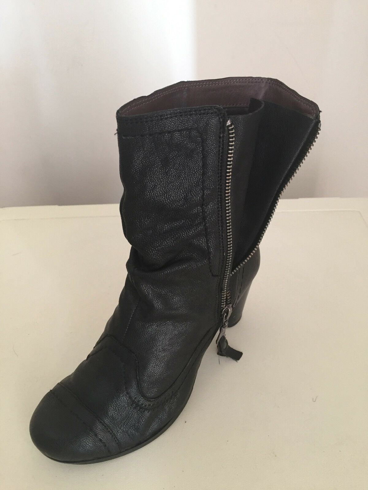 Women Marks and Spencer Women's Leather Ankle Boots  Black Size UK 5