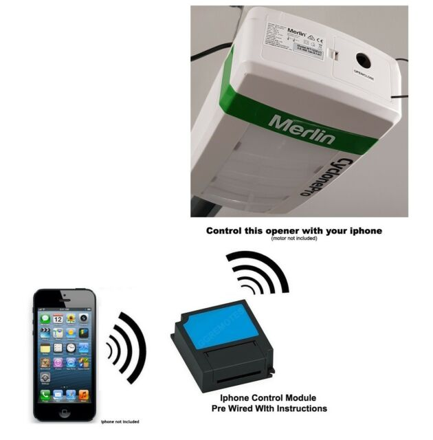 Iphone Remote Control Your Merlin Mt120evo Cyclonepro Garage Door