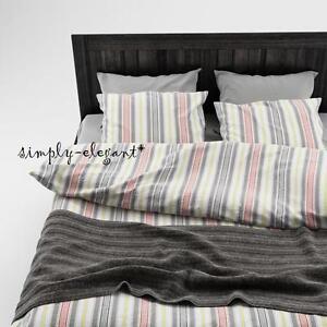 Akerfraken Duvet Quilt Cover Set Striped Design Gray Red