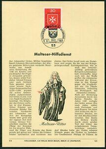 Privat-ETB-Ersttagsblatt-Verlag-Erich-Braun-Nr-165-Bund-Michel-600-Malteser-69