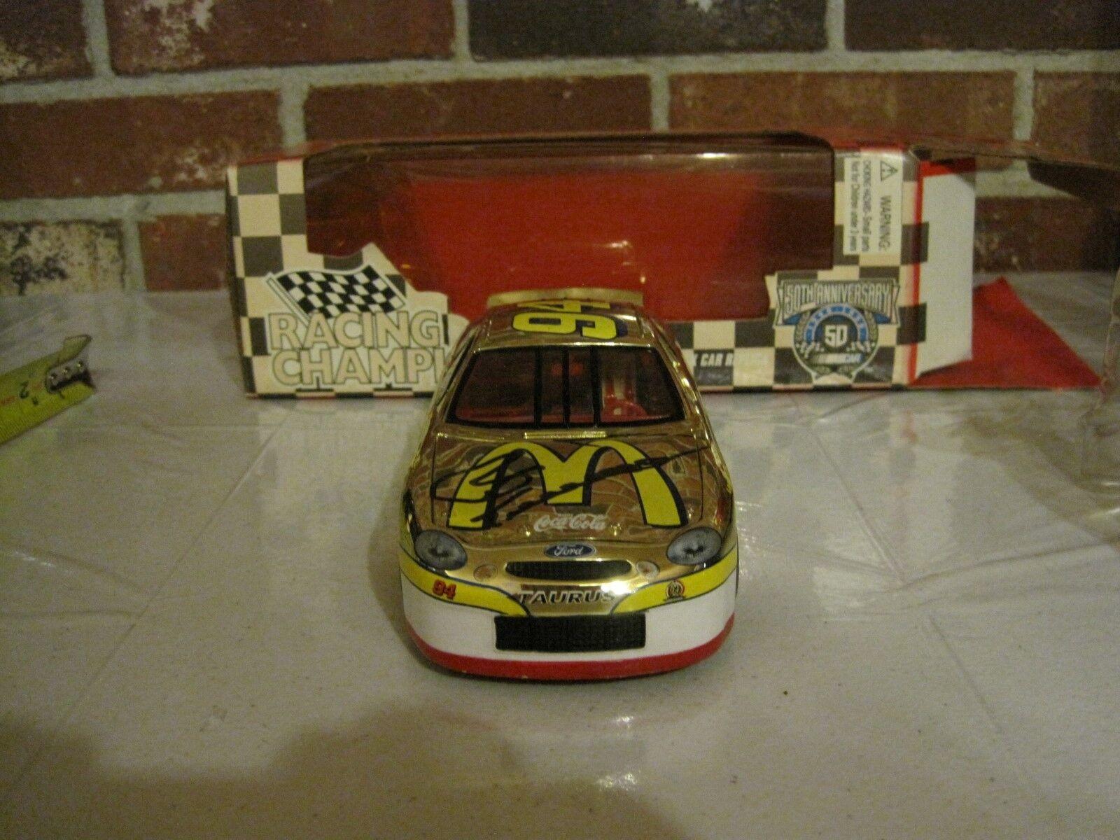 Autógrafo de 1998 50TH aniversario Bill Elliott 1 24 réplica diecast Stock Car