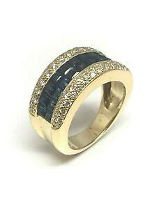 Bague-en-or-jaune-18-carats-saphirs-et-diamants-offre-exceptionnelle