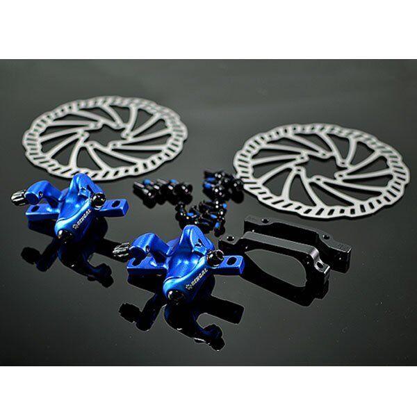 BENGAL Mechanical Disc Brake Set F&R 160 mm , bluee