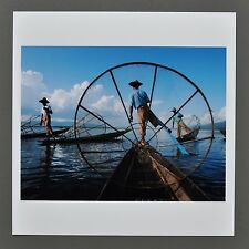 Chien-Chi Chang Signed Magnum Archival Photo 15x15cm Fishermen Inle Lake Myanmar