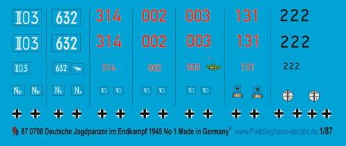 Peddinghaus  1//87 0790 Panzer im Endkampf im Reich