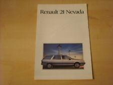 50591) Renault R21 Nevada Holland Prospekt 198?
