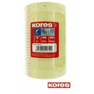 Lot de 8 rouleaux ruban adhésif - Transparent - 66mx19mm - Kores
