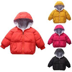 cc9b7ce1391d Kids Baby Girls Boys Winter Hooded Coat Cloak Jacket Thickened Warm ...