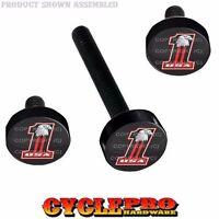 Black Billet Fairing Windshield Hardware Kit 14-up Harley Touring Usa No 1 Eagle