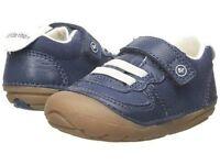 Stride Rite Shoes Barnes Navy Blue White 3 M