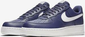 f1654cd8d33 Details about NIKE AIR FORCE 1 '07 STARS AA4083 401 BLUE RECALL/WHITE -  LEATHER-100% AUTHENTIC