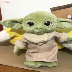 Details about  /30CM Baby Yoda Plush Toys Doll The Mandalorian Force Awakens Master Stuffed Kids
