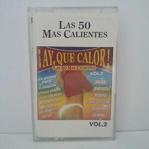 Compilation-Las-50-Mas-Calientes-Vol-2-Cassette-Audio-K7-Tape