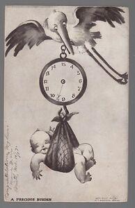 50941-1907-POSTCARD-NEWBORN-GREETING-034-A-PRECIOUS-BURDEN-034-M-T-SHEAHAN