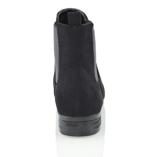 Booties Work Elastic Chelsea Ankle Flat Dealer Ladies Casual Biker Boots Womens xwS0OqpvTv