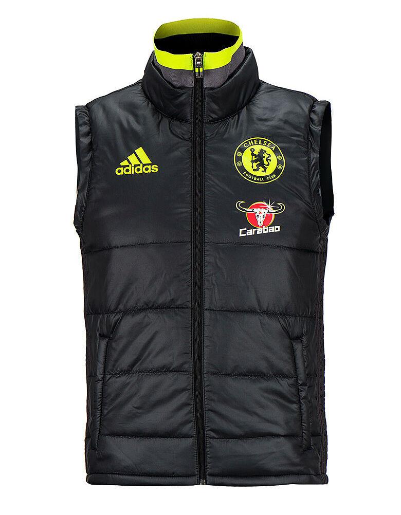 Adidas FC Chelsea Acolchado Chaleco Chaqueta Parka Invierno AP5606 fútbol desgaste