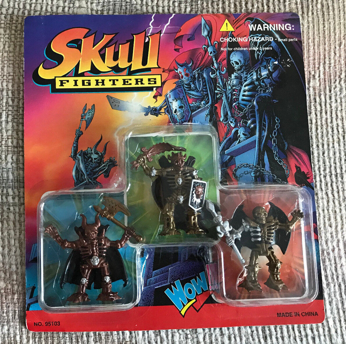 VINTAGE SKULL FIGHTERS DELUXE 3 PACK SET NEW ON CARD