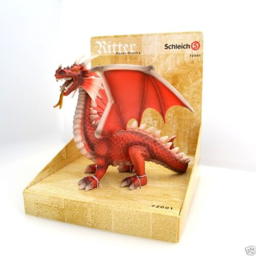 NEW SCHLEICH 72001 RED DRAGON World of Knights Mythical Figure - RETIRED