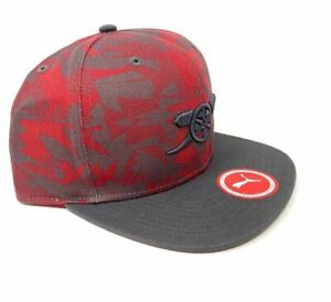 e8536be9464 Arsenal Snapback Cap Puma Camo Red Fun Fan Gift New Official ...