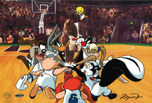 Warner-Brothers-Toon-Squad-Limited-Edition-Cel-Signed-By-Michael-Jordan