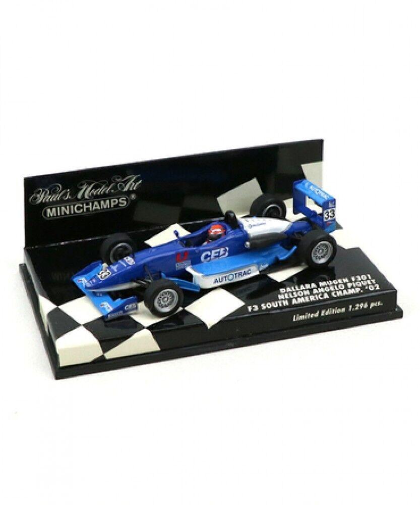gran venta Nuevo Mini Champs escala 1 1 1 43 Dallara Mugen F 301 N. Piqué Jr 2002 F 3 Japón  toma