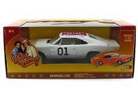1:18 Dukes Of Hazzard General Lee 01 1969 Dodge Charger White Lightning Car