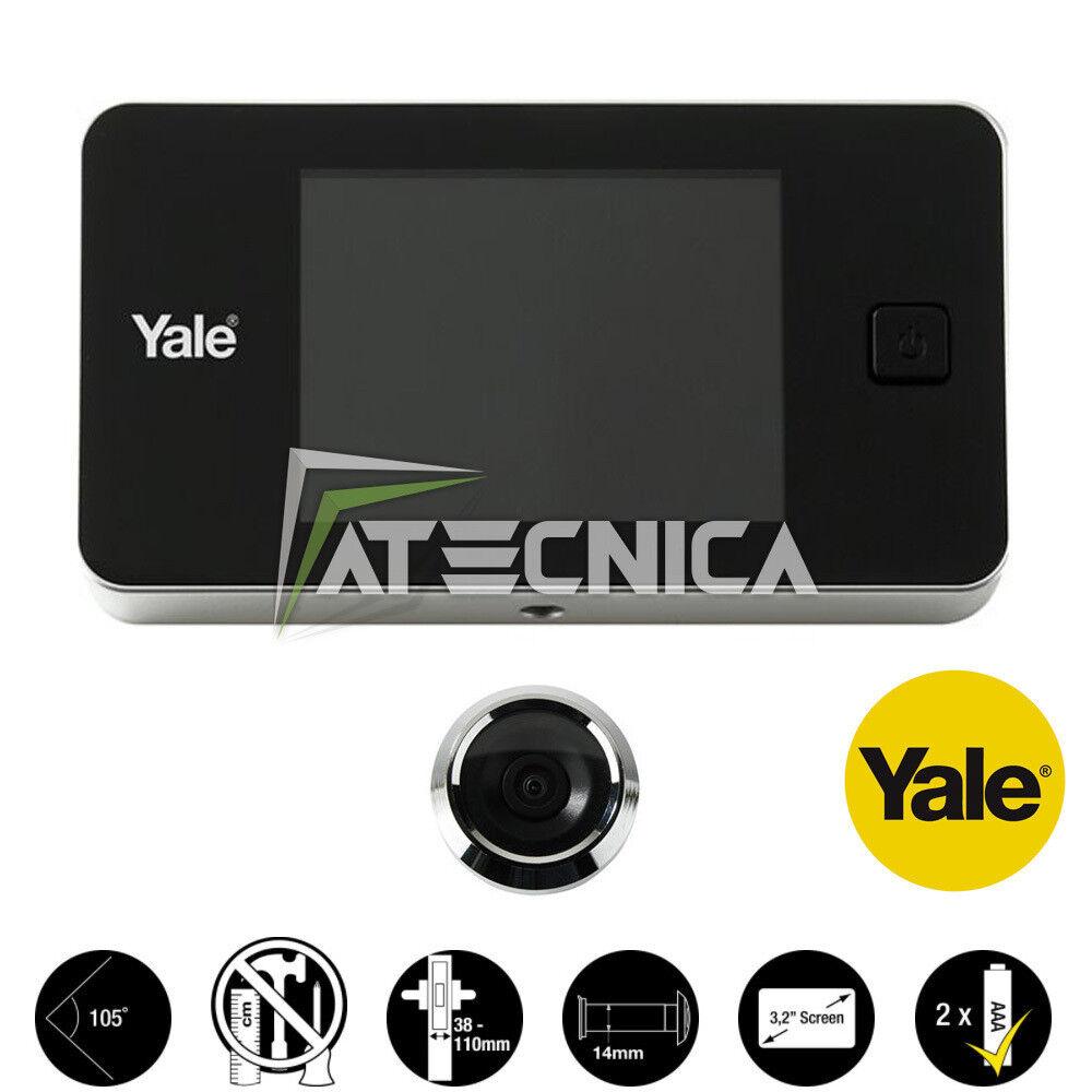 Judas électronique avec écran digital LCD 3,2  couleur Yale 45 Universel