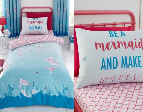 MERMAID WORLD Children Teenage Kids Girls Duvet pillow Cover fitted sheet set
