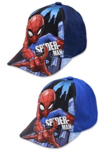 Marvel Avengers Spiderman Boys Mesh Baseball Cap Blue//Navy Children/'s Hat