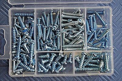 Blechschrauben Sortiment 175-tlg Stahl verzinkt Schlitzkopf Schrauben