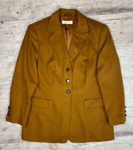 Auth-Women-039-s-ESCADA-Margaretha-Ley-Brown-Wool-Jacket-Blazer-Size-M-L