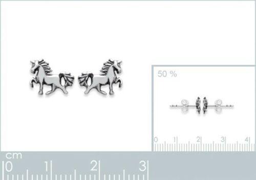 Neuves Paire de BOUCLES d/'oreilles CHEVAL en ARGENT 925