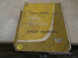 ford fairplane 500 used shop manual vp 1962 vp cm78 ebay rh ebay co uk used shop mannequin for sale yeovil uk used service manuals for sale