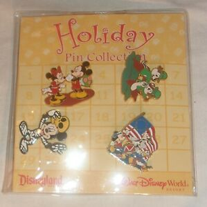 DISNEYLAND-WALT-DISNEY-WORLD-HOLIDAY-PIN-COLLECTION-NEW-IN-PACKAGE