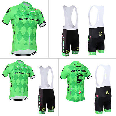 New Mens Bike Riding Jersey Bib Shorts Kits Bicycle Short Shirt Padded Pants Set