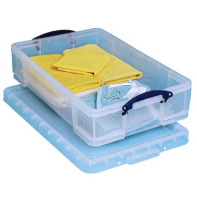 1 Really Useful Plastic Storage Box / Plastic 12 Litre 465 x 270 x 150 + 24 H