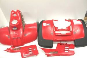 2000-Polaris-Sportsman-500O-Plastic-Fenders-with-Side-Panels-Red