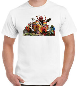 The-Muppets-T-Shirt-Animal-Band-Mens-Funny-Unisex-Top-Tee-Drums-Drummer-Drum