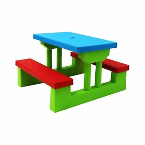 Astounding Details About New Kids Childrens Picnic Bench Table Set Outdoor Furniture Download Free Architecture Designs Scobabritishbridgeorg