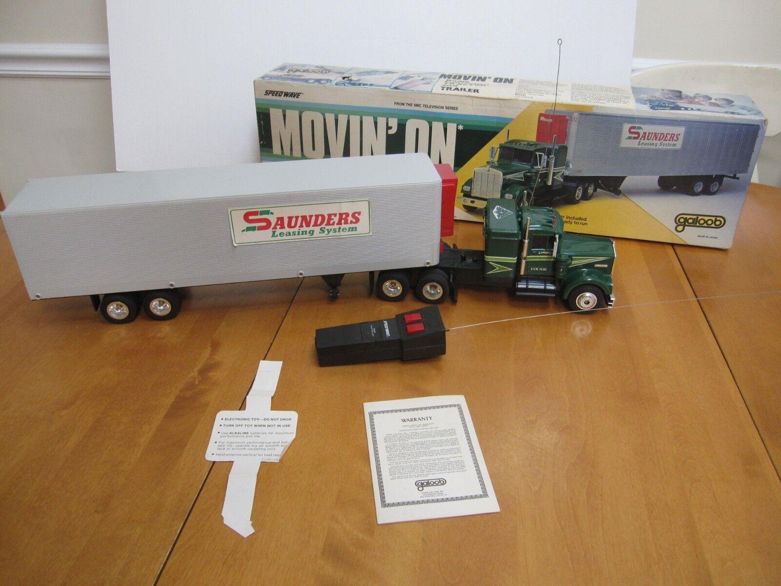Galoob todo en RC camión de remolque de tractor hecha en Japón Década de 1970 usado en excelente estado