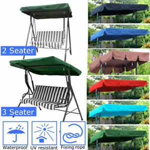 Replacement-Canopy-For-Swing-Seat-2-amp-3-Seater-Sizes-Garden-Hammock-Cover-Top