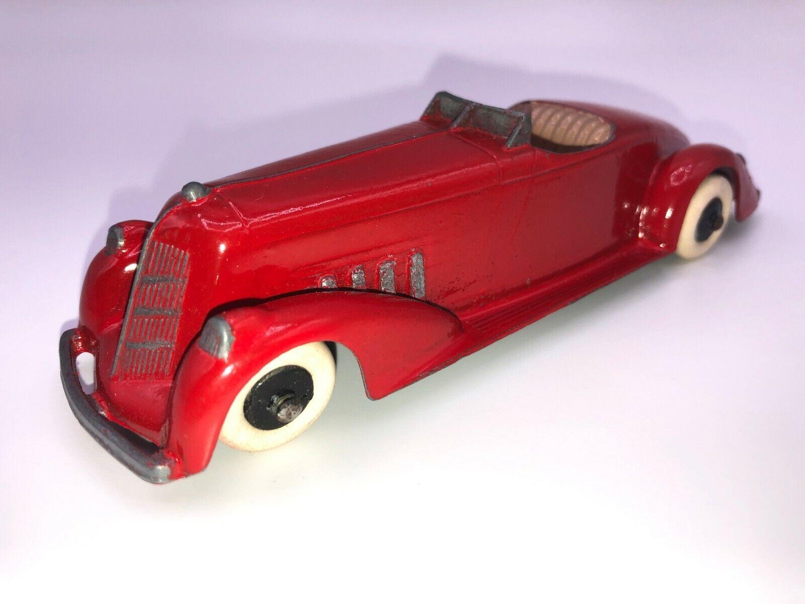 Tootsie Toy Auburn Roadster con capucha larga no restaurados, todo original (Hermoso C
