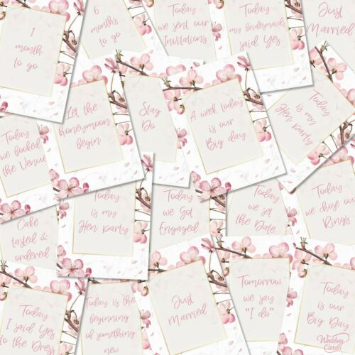 20 WEDDING MILESTONE Rustic Photo Props Engagement Gift Present Bridal Hen Cards